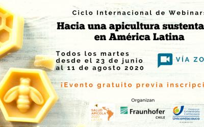 Hoy se inicia ciclo de webinars Apicultura Sustentable en América Latina